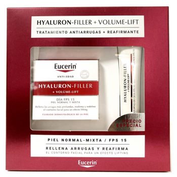 Eucerin Hyaluron-Filler Volume-Lift, Piel Nomal a Mixta, 50ml.Regalo Contorno ojos.
