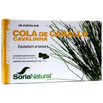 Soria Natural Cola de Caballo 600 mg.,60comprimidos
