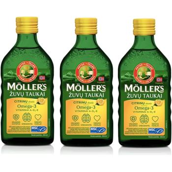 Mollers aceite de hígado de bacalao omega3, 250ml.- PACK 3UN.