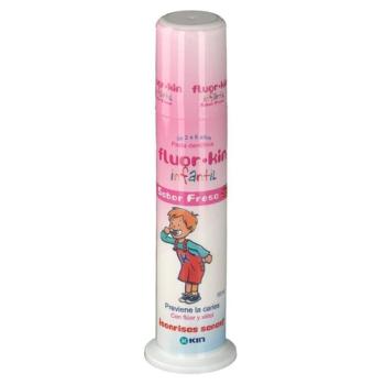 Fluor kin infantil,100ml+GRATIS pasta dental 50ml.